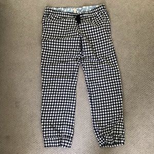 J Crew plaid gingham pajama pants in navy